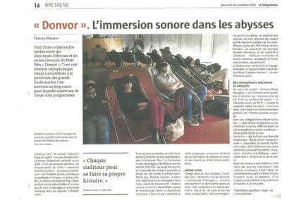 Donvor - Le télégramme 28-11-2018
